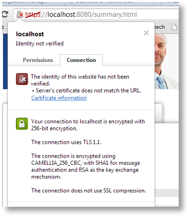 Chrome Certificate Mismatch