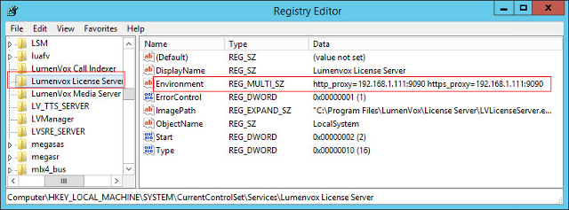 Configuring an HTTP proxy | LumenVox Knowledgebase