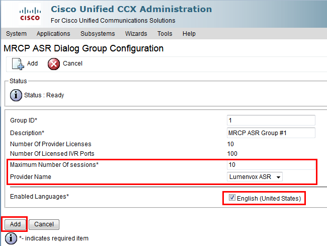 Cisco UCCX | LumenVox Knowledgebase