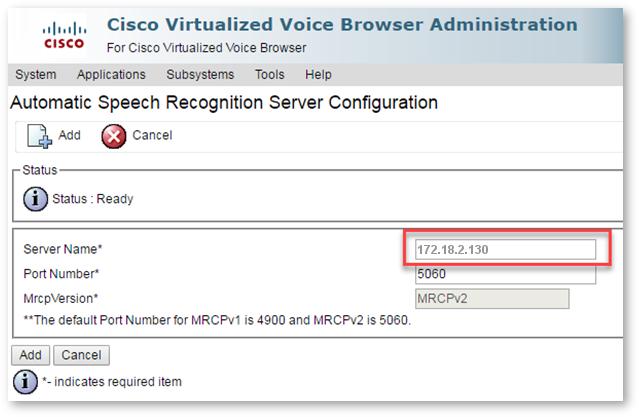 Cisco UCCE | LumenVox Knowledgebase