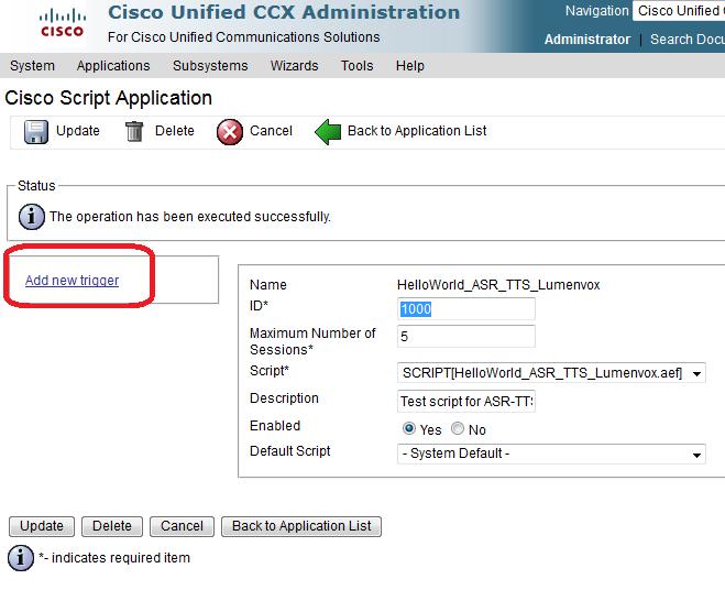UCCX Simple Integration Test   LumenVox Knowledgebase