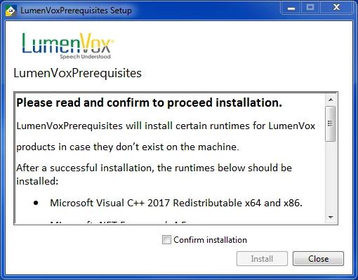 Installing Fraud Scanner | LumenVox Knowledgebase